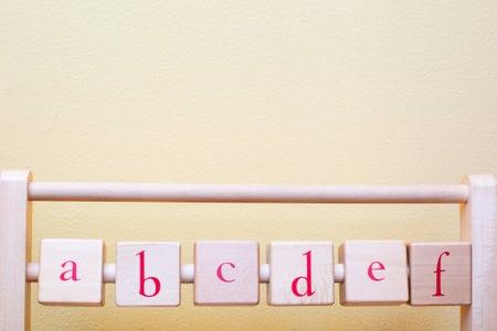 Baby nursery alphabet