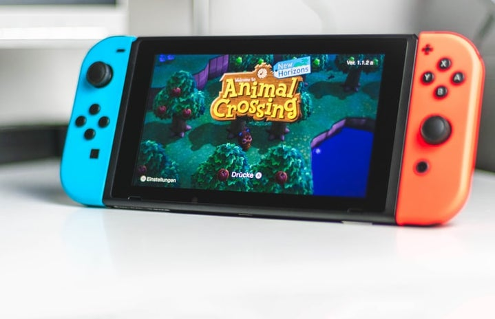 Nintendo Switch with animal crossing