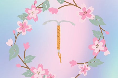 IUD graphic with flowers