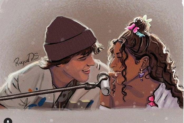 Fan Art of Julie and Luke singing Edge of Great by @raquel_ps2