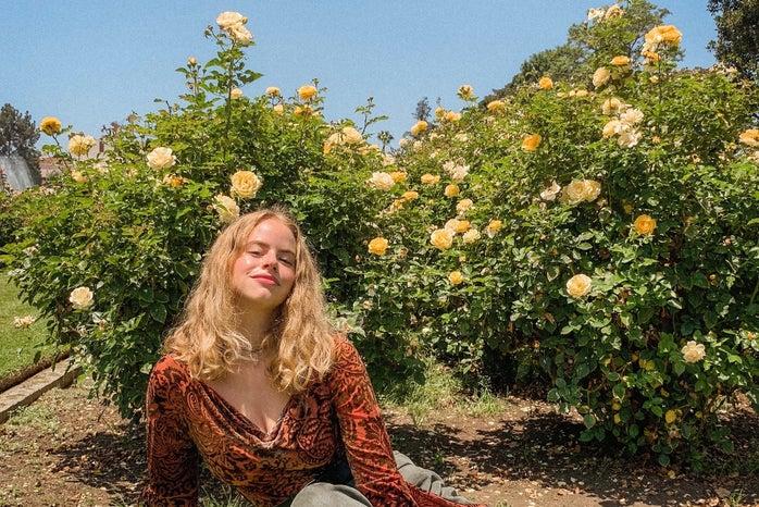 Courtney in flowers