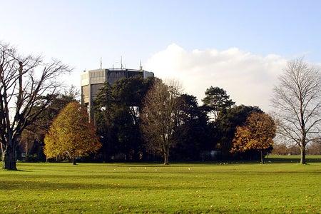 Durdham Down Bristol UK Bristol downs water tower sunny grass bristol