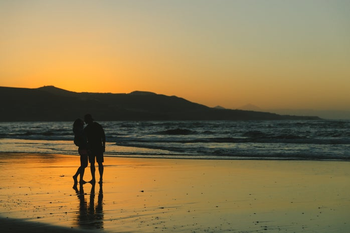 Beach Couple Love