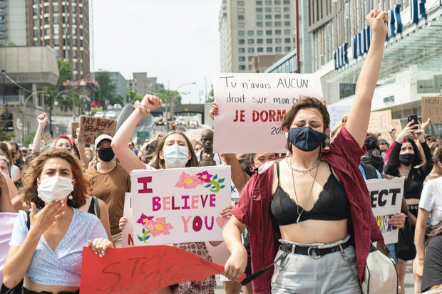 March against sexual violence in Montréal