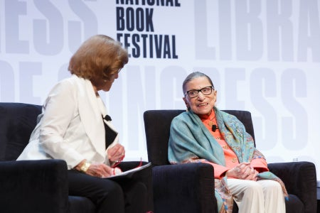 U.S. Supreme Court Justice Ruth Bader Ginsburg speaks on the Main Stage of the National Book Festival
