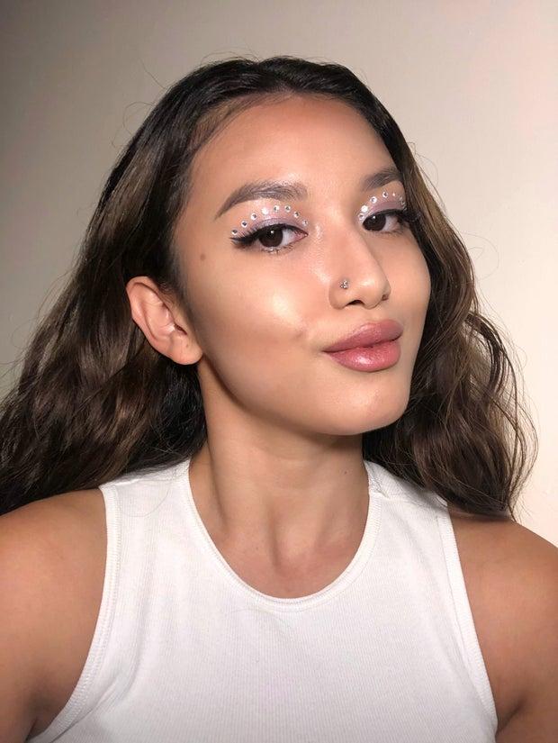 girl with halloween makeup looks