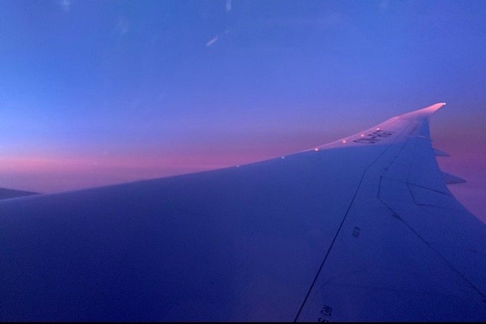 Picture I took while on a flight to Morocco.