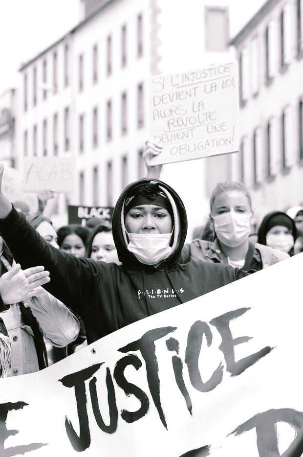masked protestors