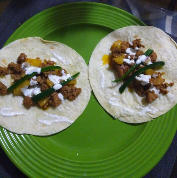 Tacos with pineapple