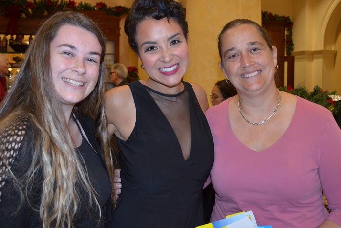 three woman posing