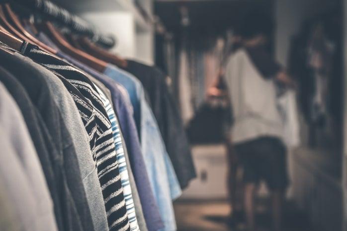 Rack of clothing