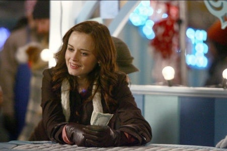 It is a divulgation photo (Netflix and iMDB) of Rory Gilmore in Gilmore Girls