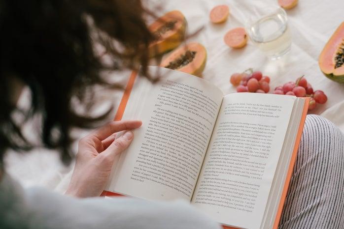 person reading a book