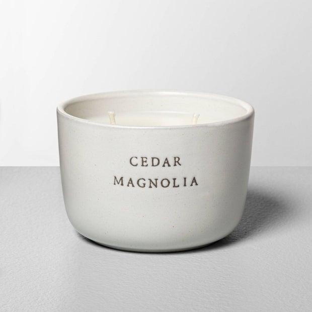 7.4 oz Ceramic 2-wick candle