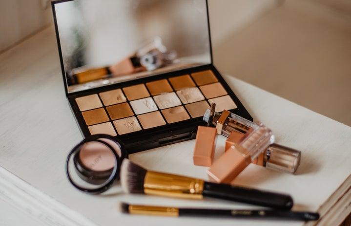 makeup with brown color scheme
