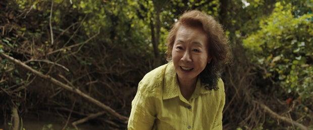 Grandmother Soonja (Yuh-jung Yoon) smiling.