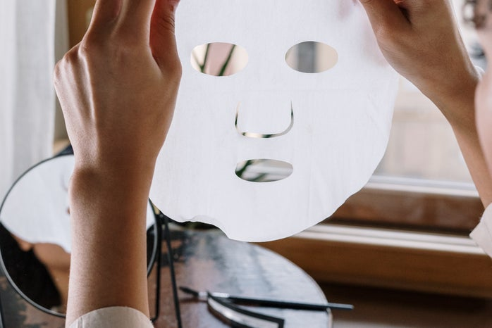 Sheet face mask skin care product