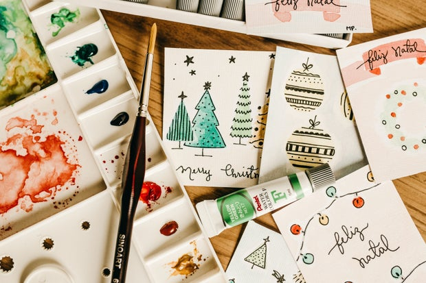 Eco friendly paper holiday card