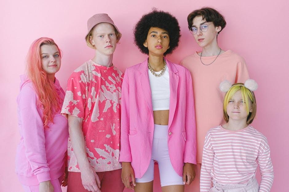 Gen z stylish teenagers