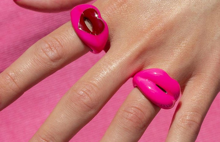Solange Hot Pink Chunky Ring