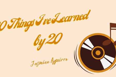 "article cover with record and title ""20 things I've learned by 20"""