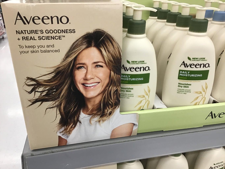 Jennifer Aniston Aveeno campaign