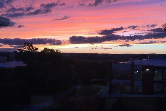 A picture of the sunset at SUNY Geneseo.