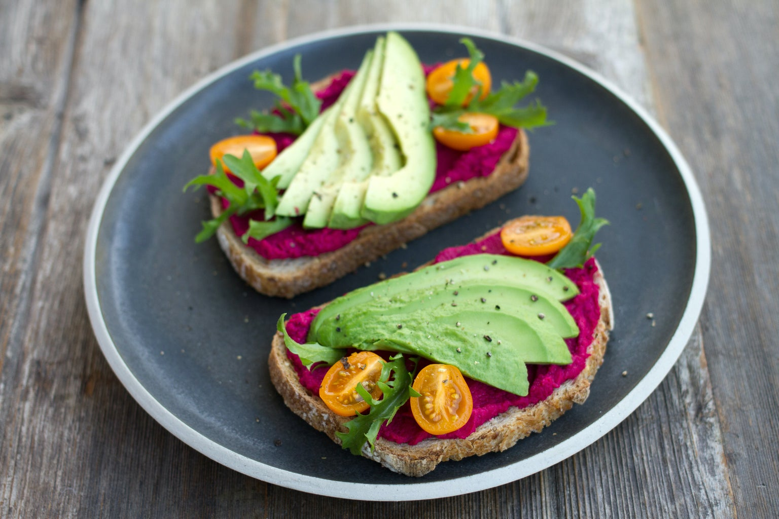 """""""two sliced breads with avocado on top"""" on Unsplash"""