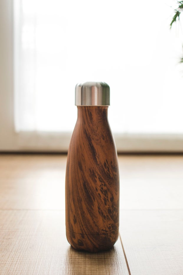 Photo of a reusable water bottle