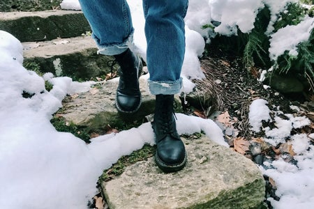 Doc Martin boots in snow