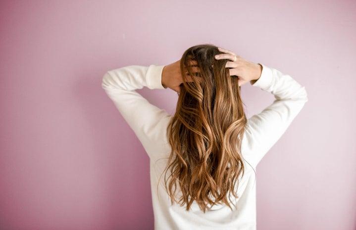 woman modeling hair