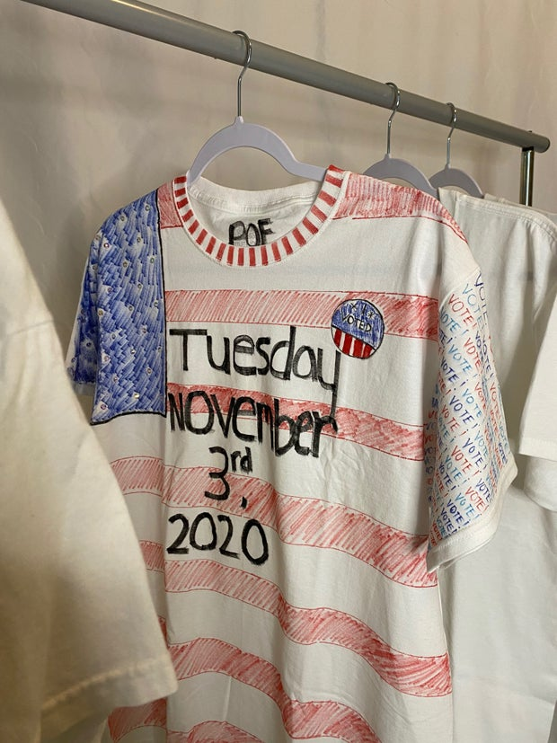 politics of fashion election t-shirt