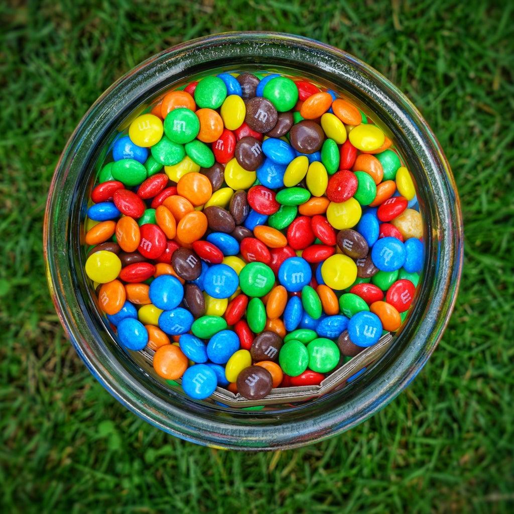 M&Ms in a jar