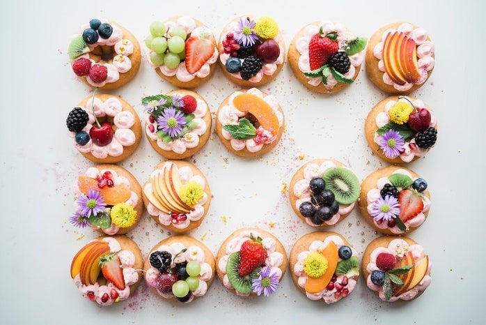 donuts with fruit