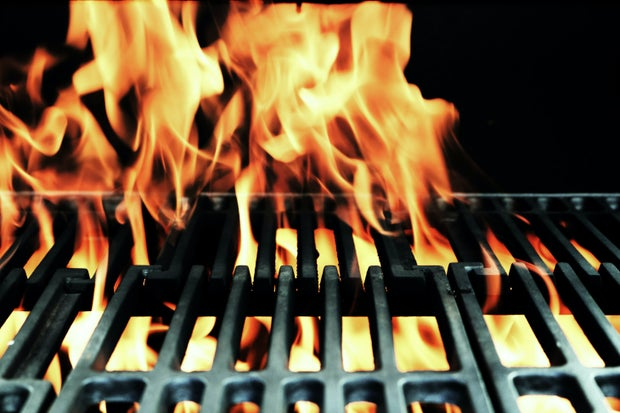 fire through metal grill