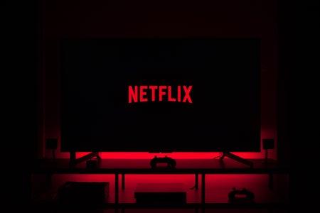 Netflix Screen in Dark Room