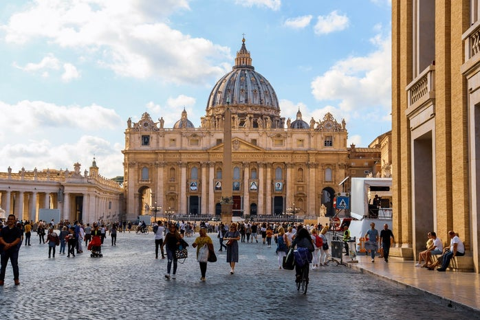 The Vatican during a busy day
