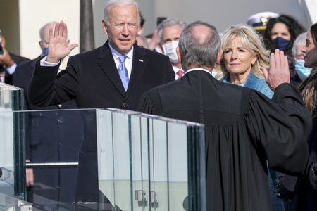 Joe Biden takes the presidential oath of office