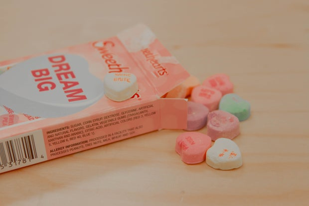 valentines day conversation heart candy