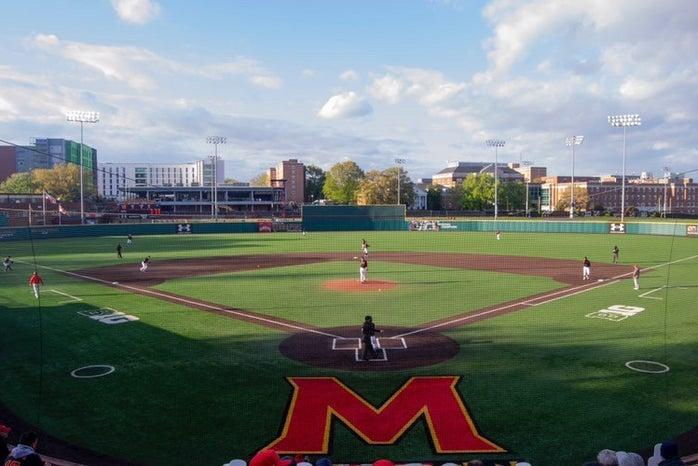 Baseball field at the University of Maryland