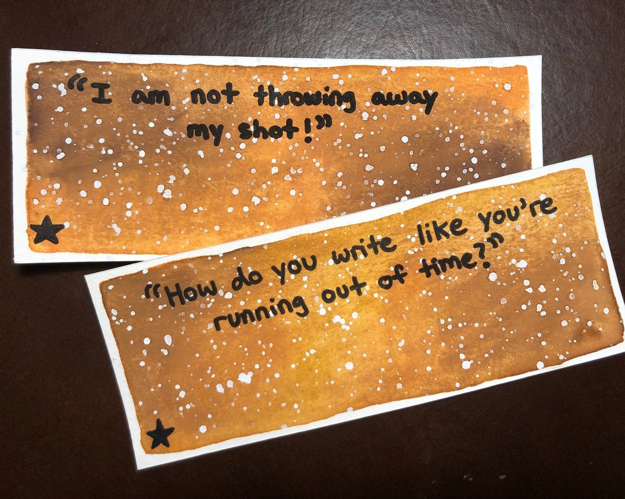 """""""Hamilton"""" musical bookmarks on Broadway Bookmarks on Etsy"""