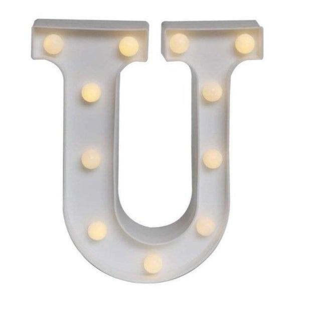 LED light number/letter symbol