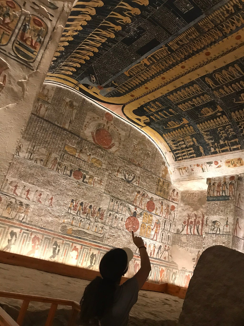 Me at the Valley of the Kings in Luxor, Egypt