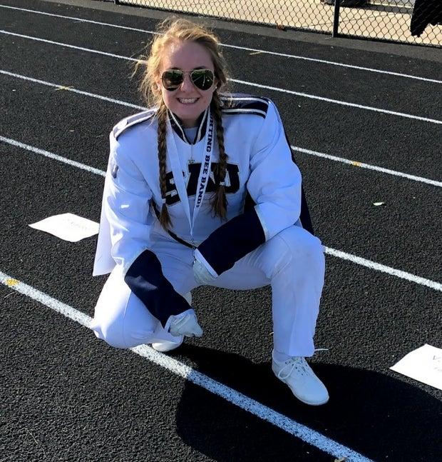 Kelsey W in Uniform on a track