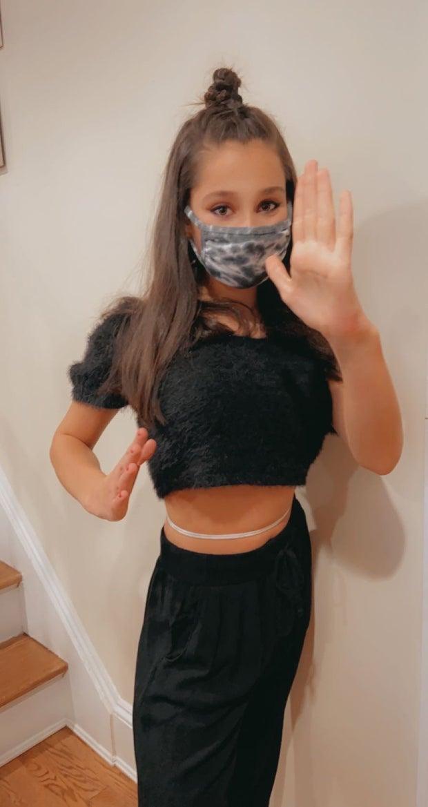 Girl in DIY Ninja Costume
