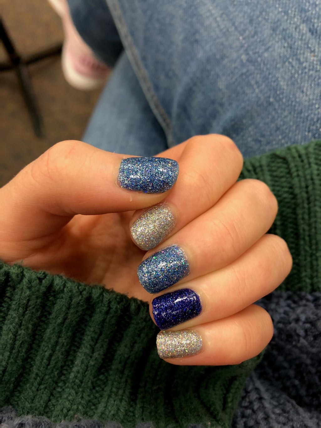 double accent nail manicure
