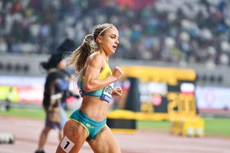 Genevieve LaCaze running