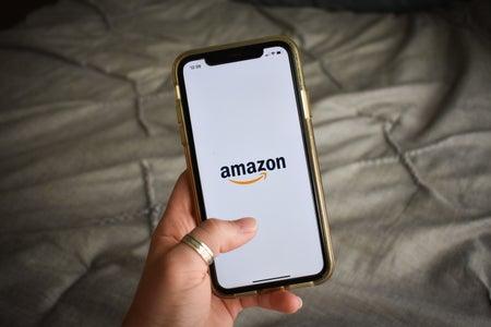 Holding Phone with Amazon