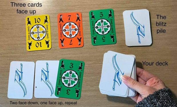 Dutch Blitz game cards used for how to play