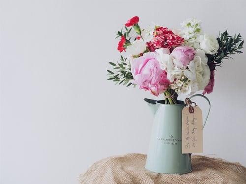 aesthetic house flowers